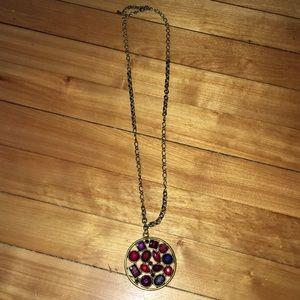 Faux Gem 💎 Cluster Necklace